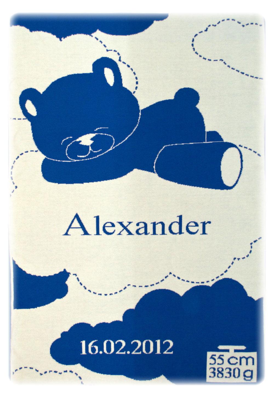 Manta Alexander - Azul marino