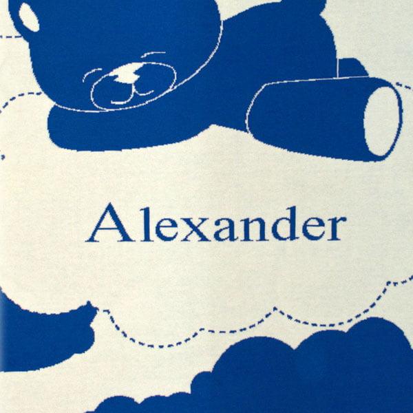 Manta azul personalizada Alexander