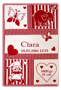 Manta Clara rojo