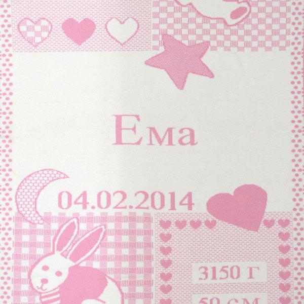 Manta personalizada rosa Ema