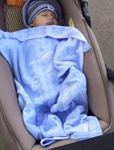Manta personalizada color azul