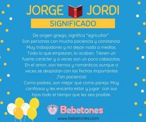 Significado y origen del nombre de Jorge - Jordi