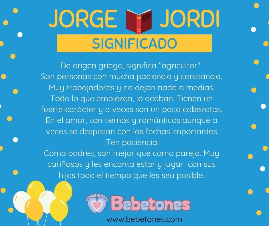 Jorge – Jordi