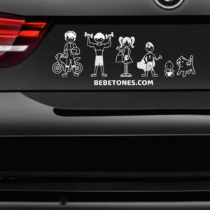 """Pegatina de coche """"Mi Familia"""""""