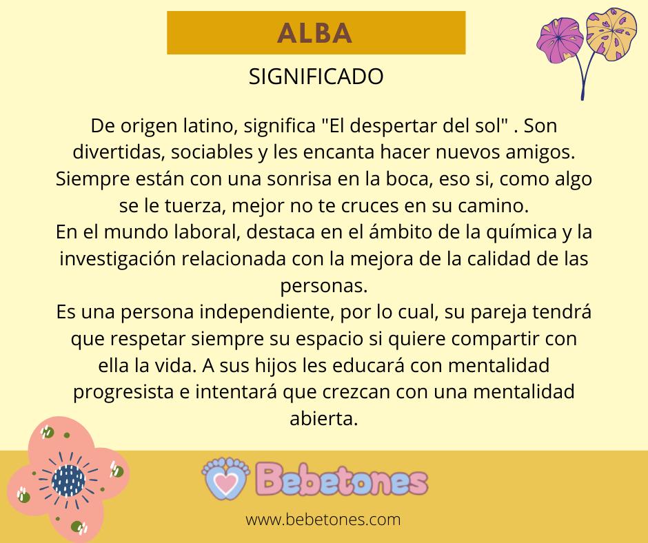 Lee más sobre el artículo Alba