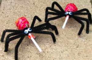 Arañas de caramelo para Halloween