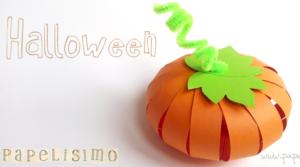 Calabaza de papel para Halloween