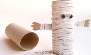 Momias de papel higiénico para Halloween