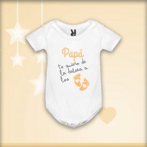 Body «Papá te quiero de la cabeza a los pies» Naranja
