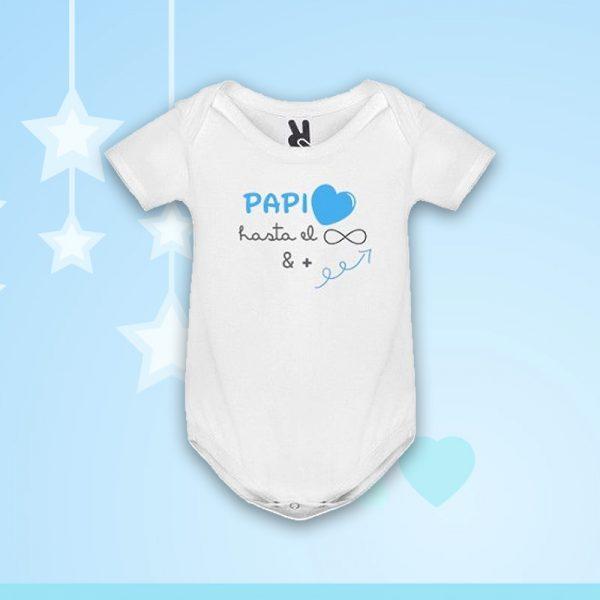 """Body """"Papi Amor Infinito"""" en azul"""