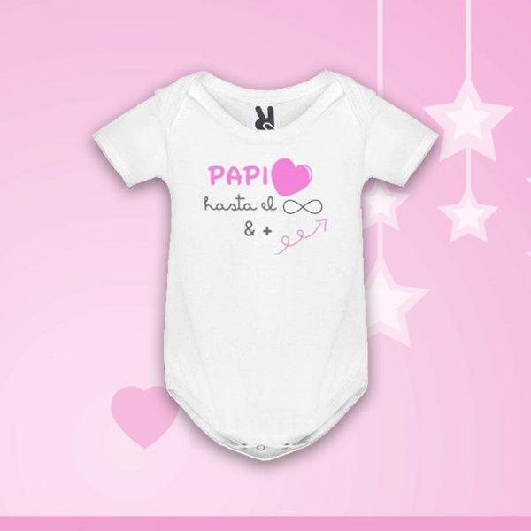 "Body ""Papi Amor Infinito"" en rosa"