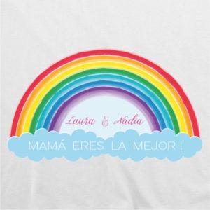 "Camiseta personalizada ""Arcoiris – Mamá eres la mejor"""