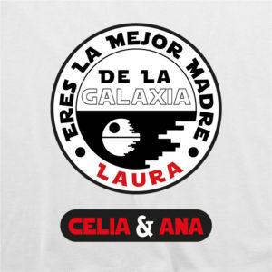 """Camiseta personalizada para mamá """"Eres la mejor Madre de la Galaxia"""""""