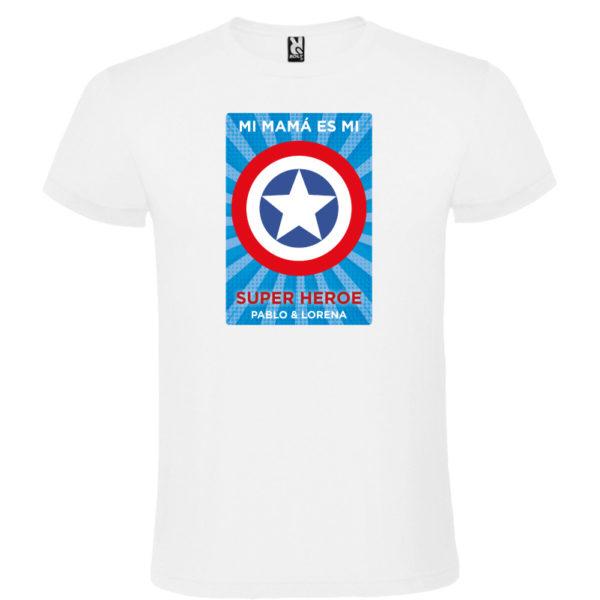 "Camiseta personalizada ""Mamá Super Capitan 2"" - blanca"