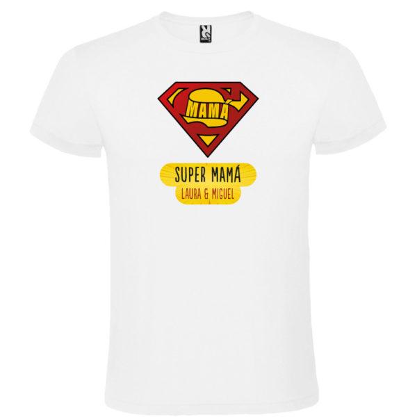 "Camiseta personalizada ""Super Mamá"" - blanca"