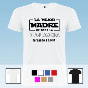 """Camiseta Unisex Personalizada """"La mejor madre de la galaxia"""""""