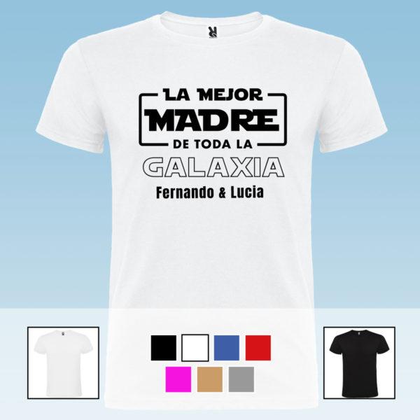 """Camiseta personalizada """"La mejor madre de la galaxia"""""""