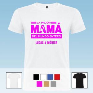 """Camiseta Unisex Personalizada """"La mejor Mamá del mundo entero"""""""