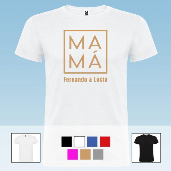 """Camiseta personalizada """"Mamá al cuadrado"""""""