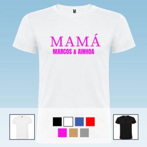 "Camiseta Unisex Personalizada ""Mamá"""
