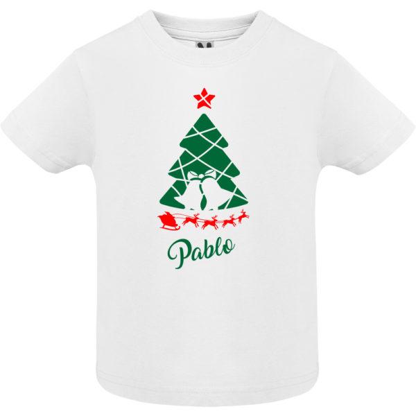 Camiseta Arbol de navidad con trineo - Niño / Niña manga corta