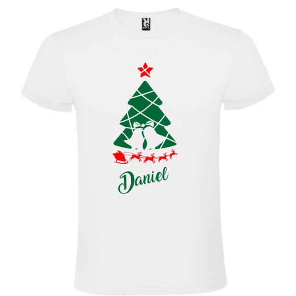 Camiseta Arbol de navidad con trineo - Hombre manga corta