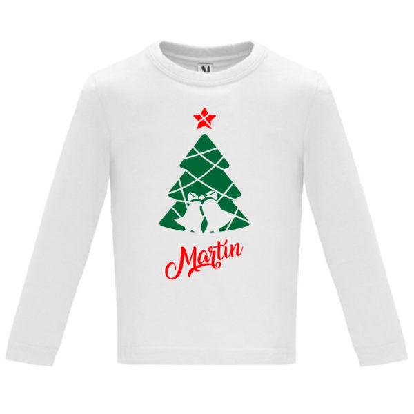 Camiseta Árbol de navidad con campanas - Niño / Niña manga larga