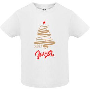 Camiseta Árbol de Navidad Jazz – Oro y Rojo