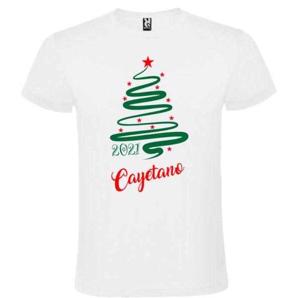 Camiseta Personalizada de Navidad - Arbol Jazz en Verde y Rojo - Hombre manga corta