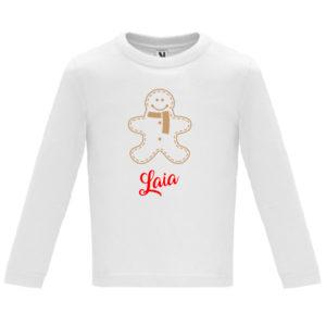 Camiseta Galleta de Jengibre – Oro y Rojo