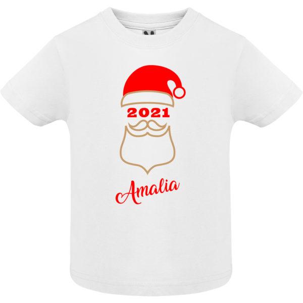 """Camiseta personalizada de navidad """"Papá Noel"""" en Oro y Rojo - Niño / NIña Manga corta"""