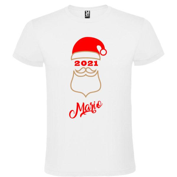 """Camiseta personalizada de navidad """"Papá Noel"""" en Oro y Rojo - Hombre Manga corta"""