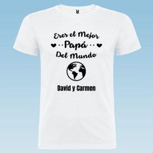 """Camiseta personalizada para papá """"Eres el Mejor Papá del Mundo"""""""