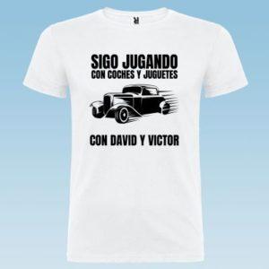 """Camiseta personalizada para papá """"Sigo Juagando con coches"""""""