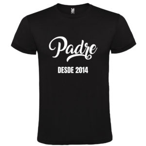 "Camiseta personalizada para papá ""Padre Desde"""