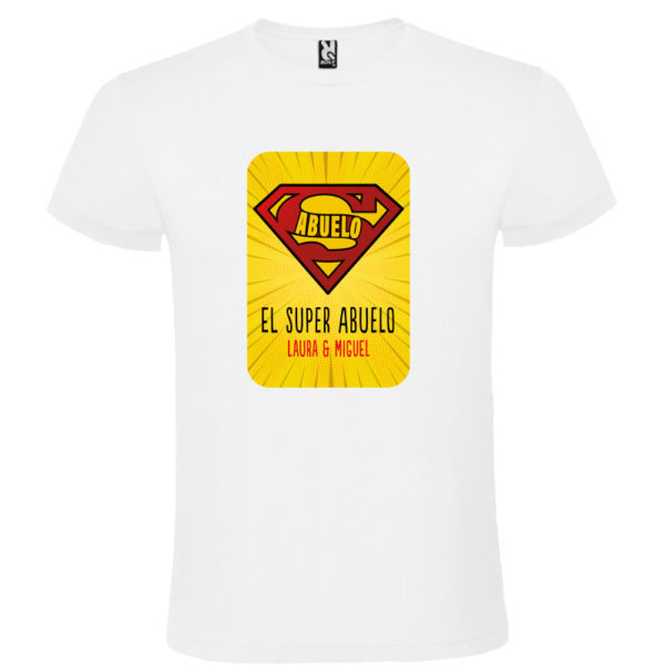 "Camiseta personalizada ""Super Abuelo 2"" - blanca"