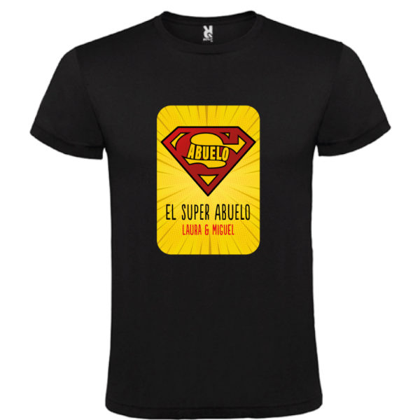 "Camiseta personalizada ""Super Abuelo 2"" - negra"