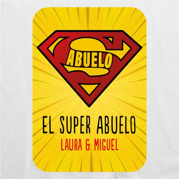 "Dibujo camiseta personalizada ""Super Abuelo2"" - blanca"