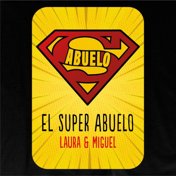 """Dibujo camiseta personalizada """"Super Abuelo2"""" - negra"""