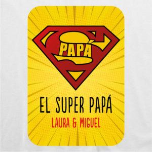 """Camiseta personalizada para papá """"Super Papá 2"""""""