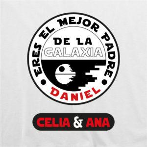 """Camiseta personalizada para papá """"El mejor padre de la Galaxia"""""""
