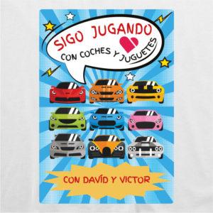 """Camiseta personalizada para papá """"Sigo jugando con coches"""""""