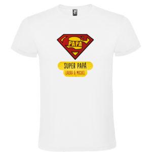 """Camiseta personalizada para papá """"Super Papá"""""""