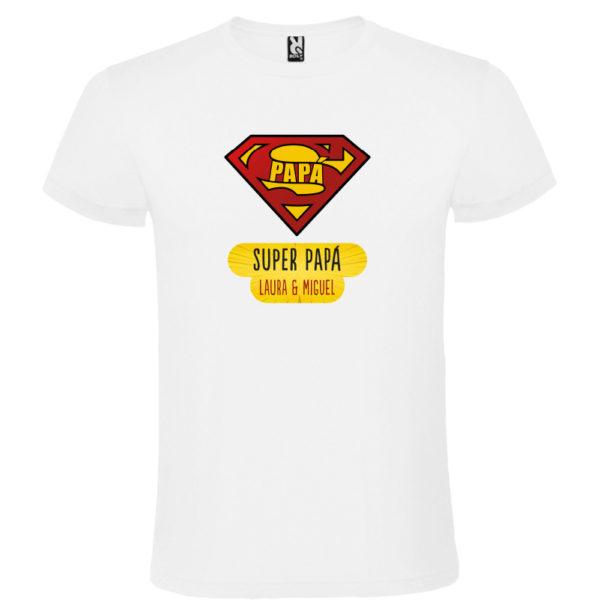 "Camiseta personalizada ""Super Papá"" - blanca"