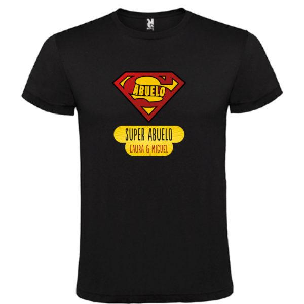 "Camiseta personalizada ""Super Abuelo"" - negra"