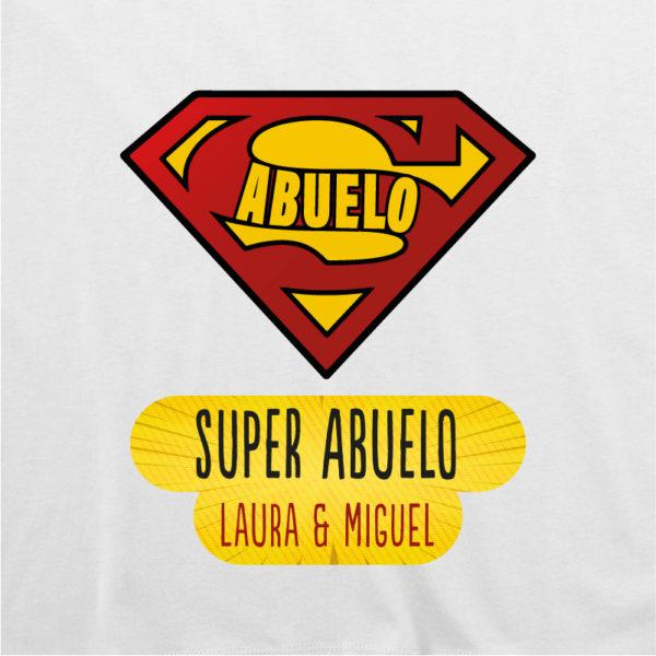 "Dibujo camiseta personalizada ""Super Abuelo"" - blanca"
