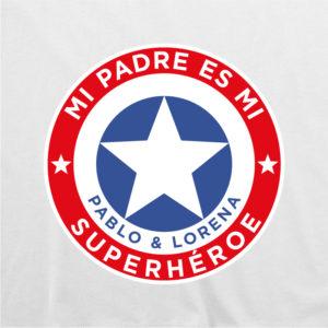 "Camiseta personalizada para papá ""Super Capitán"""