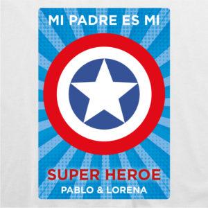 "Camiseta personalizada para papá ""Super Capitán 2"""