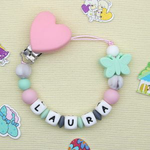 Chupetero personalizado «Butterfly Mint»