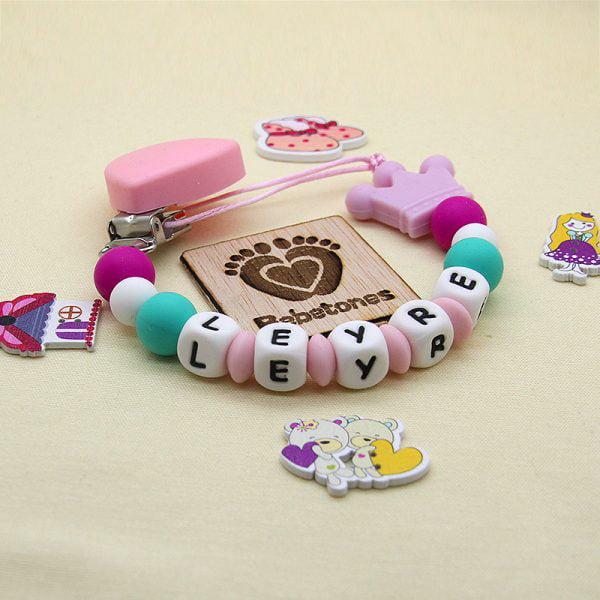 Chupetero Candy Personalizado con nombre con logo